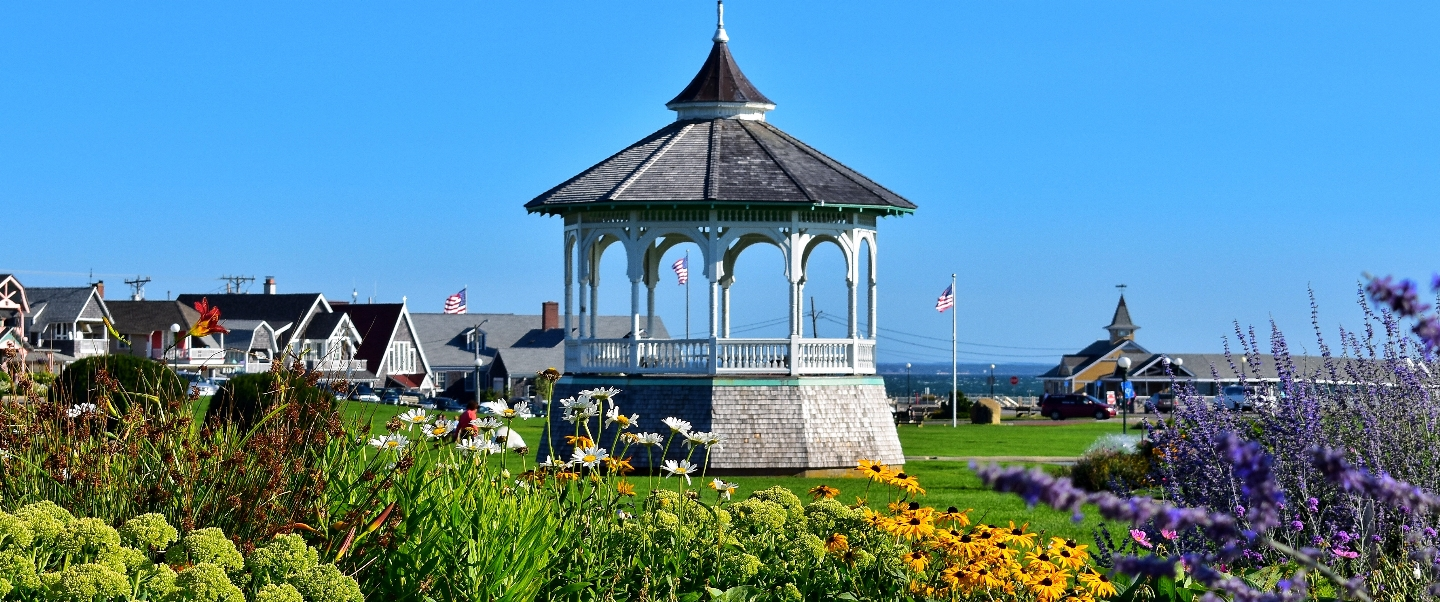 Ocean Park Bandstand in Oak Bluffs, MA